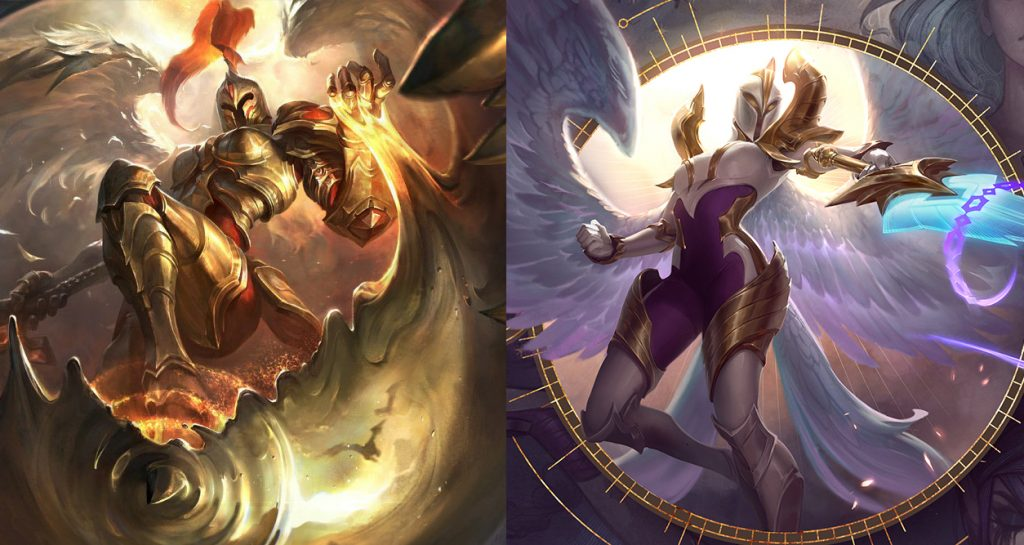 Kayle old/new comparison.