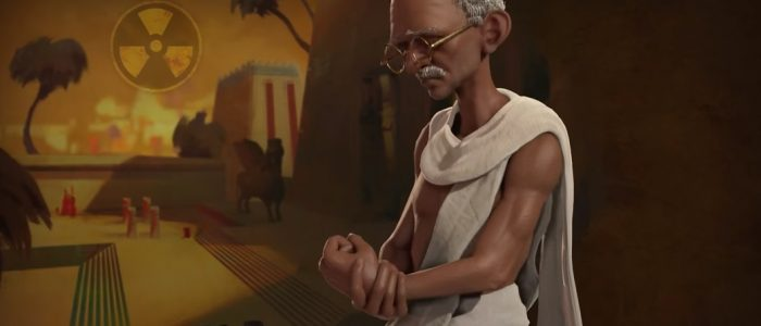 Gandhi Looking Like A Snack In Civilization VI