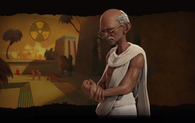 Gandhi Looking Like A Snack In Civilization VI